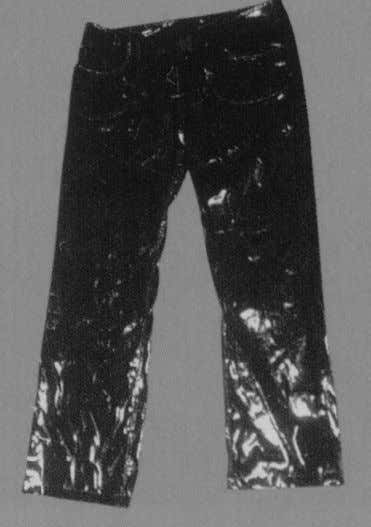 "a week's wages in those days."" 04 - PVC Trousers The cheap-to-produce PVC keks launched at"