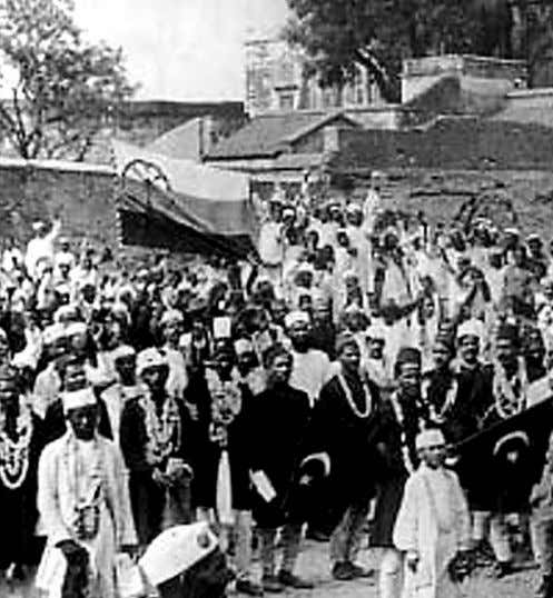 of the movement and in 1907; the party was divided over the issue of Swaraj. After