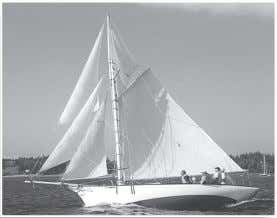 "all conditions, because no sail is too large to handle. Our own 28'6"" Friendship sloop, BELFORD"