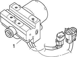 speed according to signals transmitted from the ABS ECU. 1. To the rear brake master cylinder