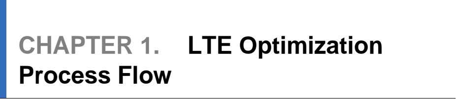 819 LTE Optimization Engineering Guideline LTE performance optimization activities can be divided into three different