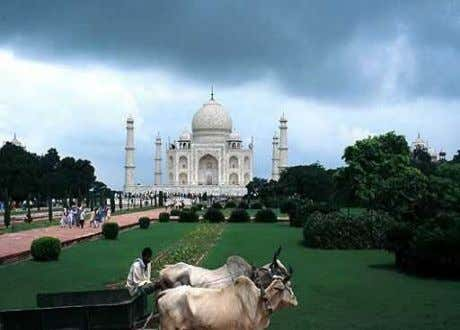 As they are seen today, the gardens at the Taj Mahal are only a tenth as