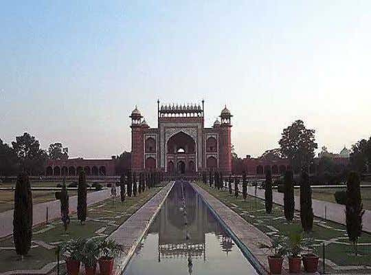 • During the British Raj, Lord Curzon initiated the restoration of the Taj Mahal after it