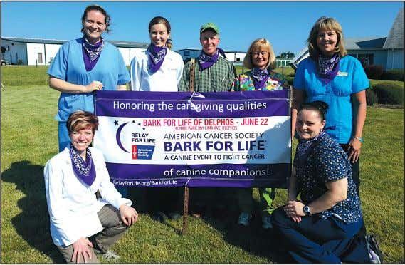 the other participants who line the track. See RELAY, page 7 Delphos Animal Hospital is the