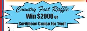 Country Fest Raffle Win $2000 or Caribbean Cruise For Two!