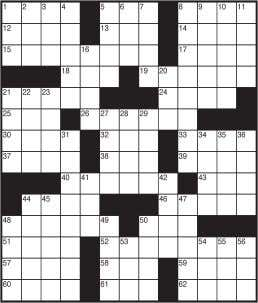 Today's Crossword Puzzle ACROSS DOWN 1 Lures a sweetheart 1 Mont. neighbor 5 Cost 2 Alley