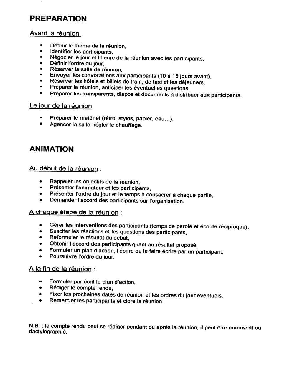 FICHE 16 LA PROCEDURE DE REUNION - 18 -