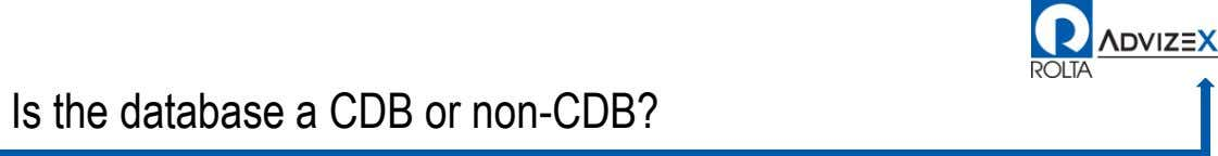 Is the database a CDB or non-CDB?