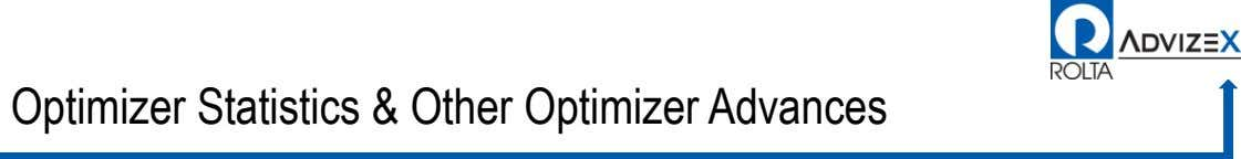 Optimizer Statistics & Other Optimizer Advances