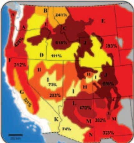 fires would be countered by the loss of existing ecosystems. FIGURE 24 Increased Risk of Fire