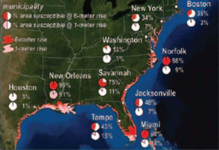 threatening many parts of the U.S. coastline (Figure 26). FIGURE 26 Projected Effects of Sea-Level Rise