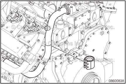 the thermostat housing. Remove the upper section of the bypass tube. Discard the gasket. Coolant Bypass