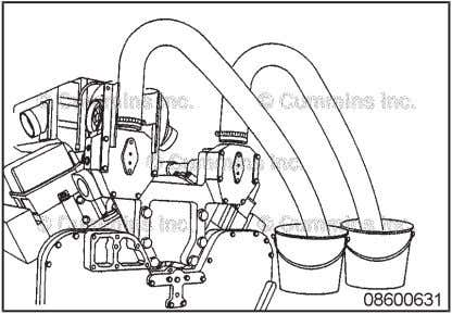 is leaking. Remove the thermostat and test operation as described in the Test section. Coolant Thermostat
