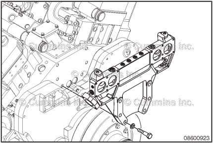 block mounting capscrews. Remove the thermostat support assembly (5). Coolant Thermostat Housing Support Pag e 8-33
