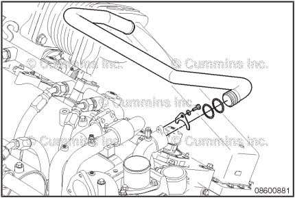 Coolant Thermostat Housing Support Pa g e 8-36 K38, K50, QSK38, and QSK50 Section 8 —
