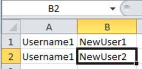 to create a .csv file, put the old name and new name in different columns: Save
