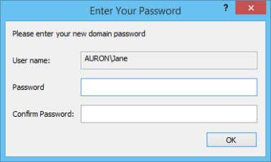 prompt the user for the their new domain account password: Keep in mind however, that if