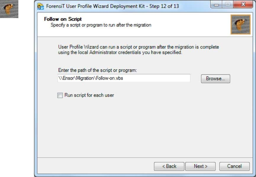 "anyway, User Profile Wizard will return a ""Hash Error"". You have the option to Run script"