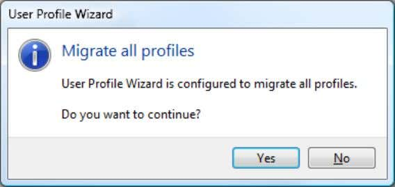 you accidently migrating your Administrator machine, the Wizard will warn you if you do try and