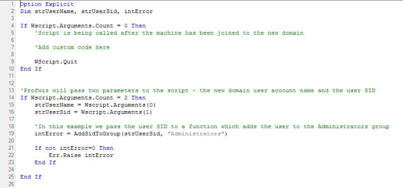 passed in by User Profile Wizard as a second parameter and adds the new domain user