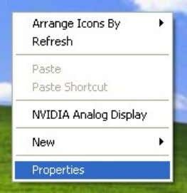"the wi ndows screen resolution as 800*600, setting as below: (1) On desktop, right click—choose ""properties"""