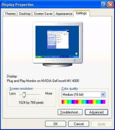 "(2) Set the windows screen resolut ion as 800*600, then click ""OK"". 4.4.4 Edit files"