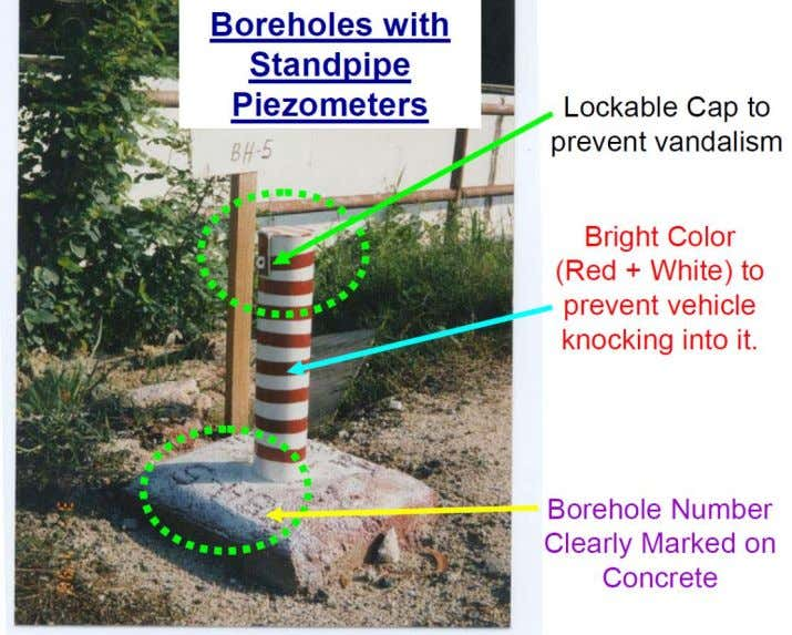 borehole 2. Allow the ground water rise to original level 3. Collect the water samples. Figure