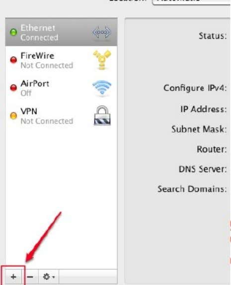 d) In the pop-up window that appears, select the VPN interface as shown below: e)
