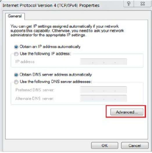 • Clear the Use default gateway on remote network check box and click OK. Apply