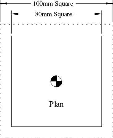 100mm Square 80mm Square Plan