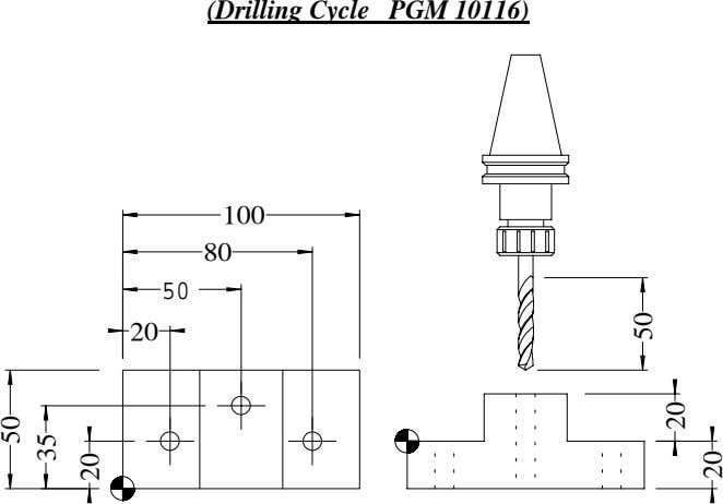 (Drilling Cycle PGM 10116) 100 80 50 20 50 35 20 50 20 20