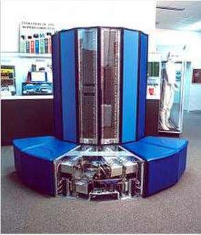 Cray X-MP/24 (ser. no. 115) supercomputer on display at the National Cryptologic Museum.