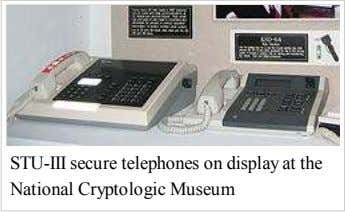 STU-III secure telephones on display at the National Cryptologic Museum