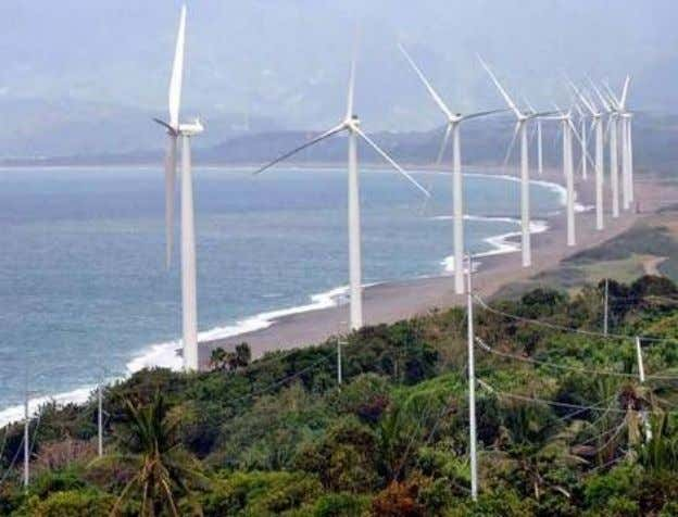 Windmills in the Philippines • Power-generating windmills in Bangui Bay, Ilocos Norte, northern Philippines. Photo: AFP
