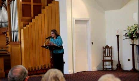 St. George's Anglican Church. Tamborine Voices, conducted by Tania Edmunds. A little lecture explaining the songs.