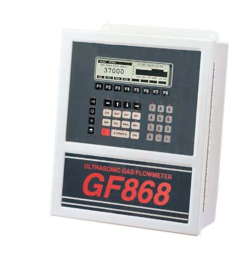 and temperature transmitters • 2750 to 1 turndown ratio DigitalFlow™ GF868 Panametrics Ultrasonic Flare Gas Mass