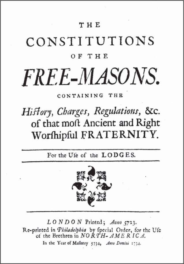 Title page of the 1734 Philadelphia edition, which measures approximately 5 3 / 4 x