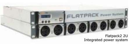 Flatpack2 2U Integrated power system