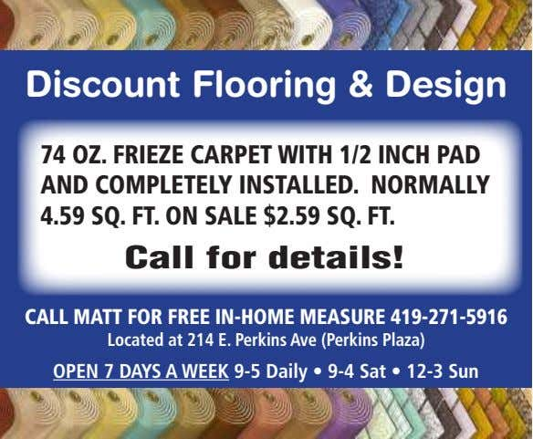 Discount Flooring & Design 74 OZ. FRIEZE CARPET WITH 1/2 INCH PAD AND COMPLETELY INSTALLED.