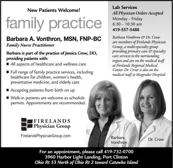Lab Services New Patients Welcome! family practice All Physician Orders Accepted Monday – Friday 6:30