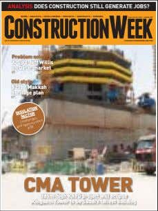 ANALYSIS DOES CONSTRUCTION STILL GENERATE JOBS? AN ITP BUSINESS PUBLICATION CONSTRUCTIONWEEKONLINE.COM p26 p42 and