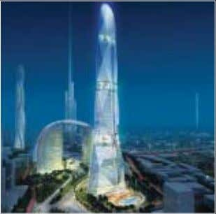 increase the passage of light and air through the building. 1 Dubai A three-tower structure proposed