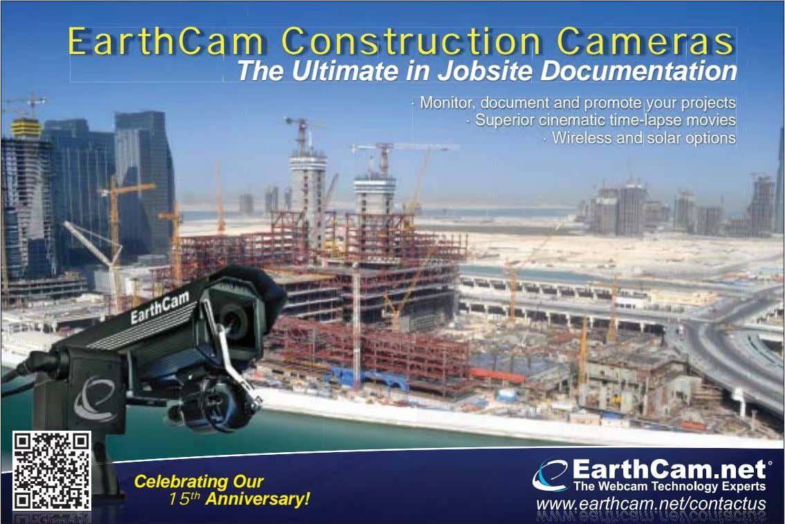 EarthCam Construction Cameras The Ultimate in Jobsite Documentation Monitor, document and promote your projects