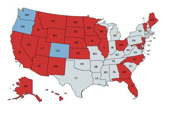 reason is not eligible to receive an absentee ballot. Currently, 27 states plus the District of