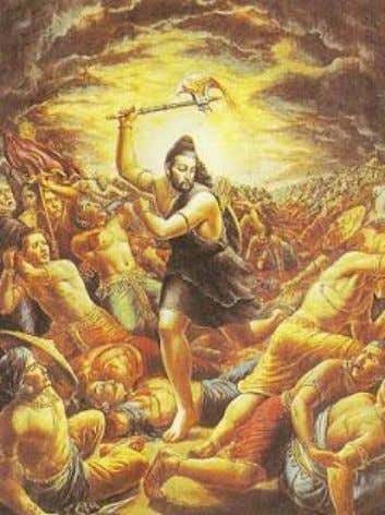Once, when Parashurama returned home, he found his mother crying hysterically. When asked why she was