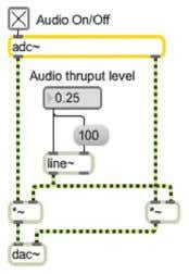 jacks, adjust the number box marked Audio thruput level . Adjust the audio throughput to a