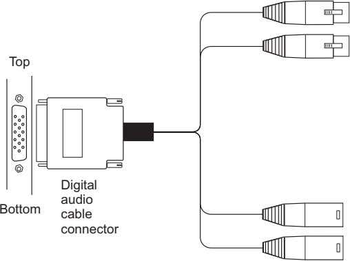 Top Digital audio Bottom cable connector