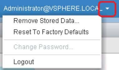 vSphere Web Client, select Logout from the drop-down menu. 15. Use the student vSphere Web Client