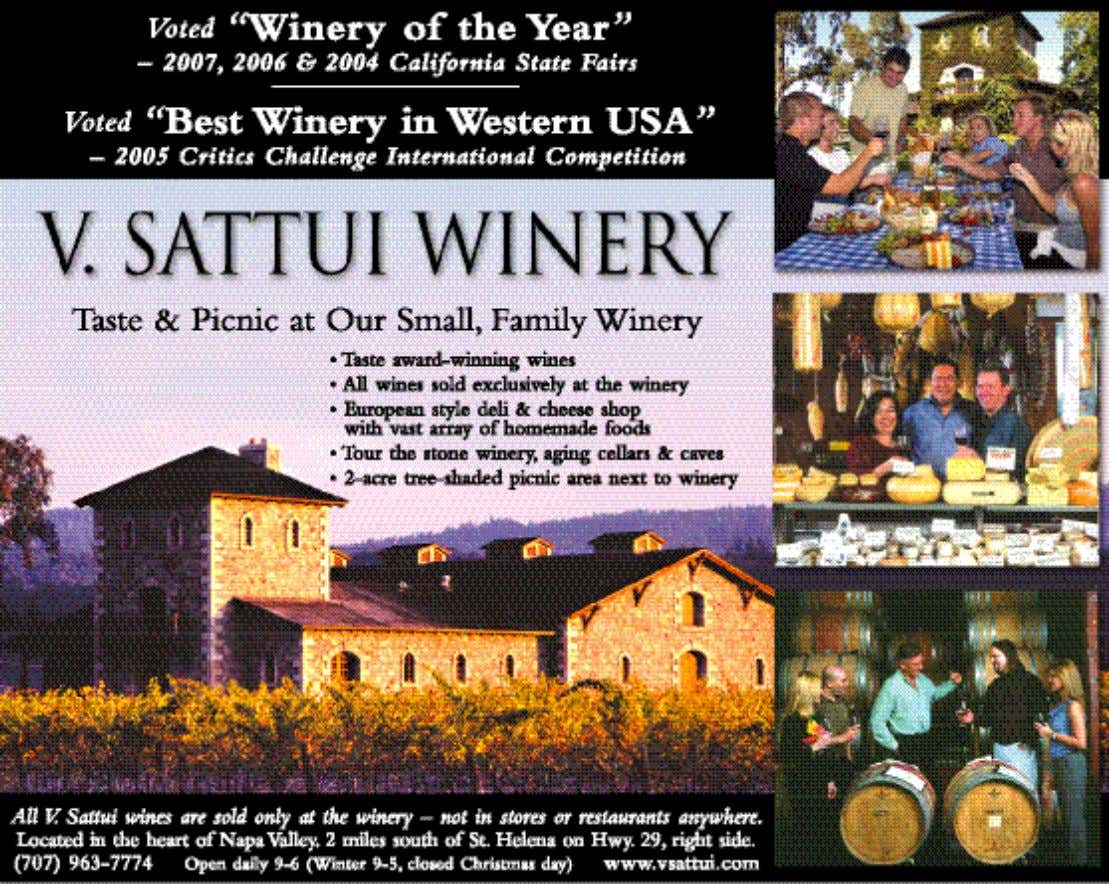 Carriage House, Charles Krug Winery, St. Helena, 4:30-10pm 800-295-4050x4045, RSVP, $350 www.WineCountryThisWeek.com 13