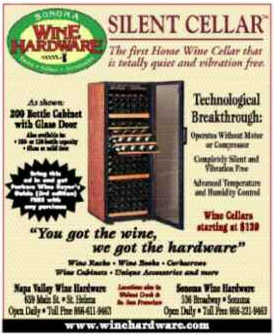 WINE COUNTRY THIS WEEK 4 Published Weekly Since 1981 More than 1,000 distribution points – Read